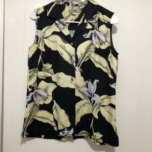 Tommy Bahama Vintage Women's XS Silk Button Front